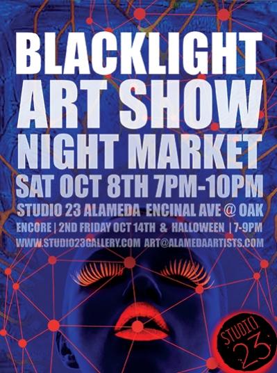 Blacklight Art Show Night Market