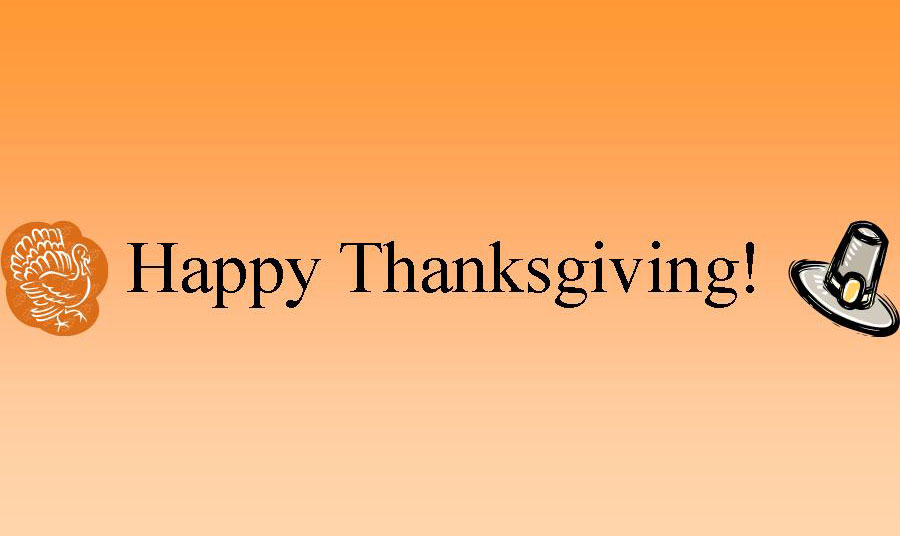 We Wish You a Happy Thanksgiving!