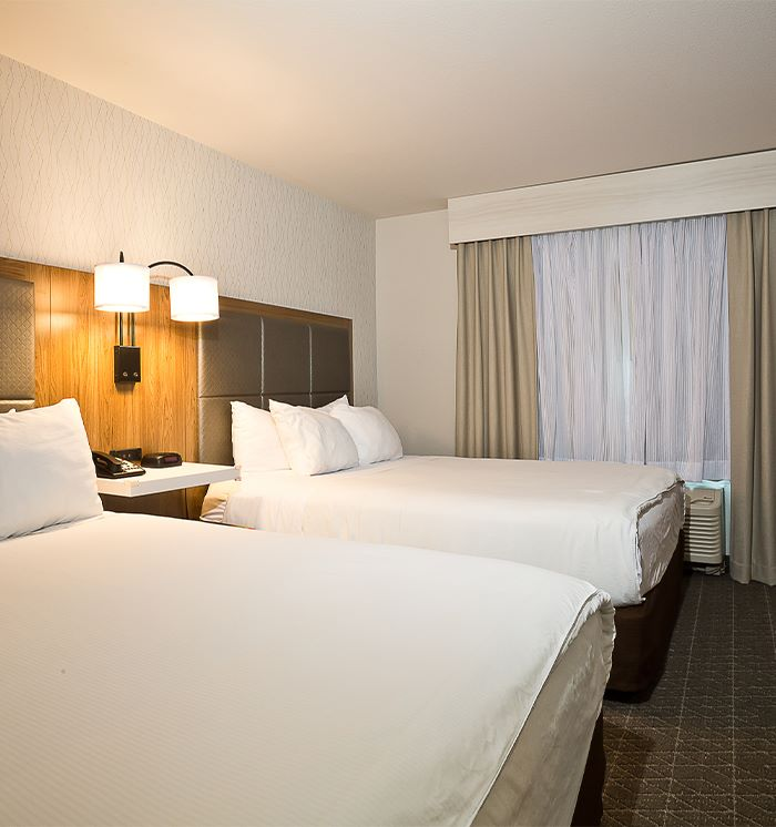 2 Queen 1 Sofa Beds Accessible Room at Hawthorn Suites By Wyndham-Oakland/Alameda
